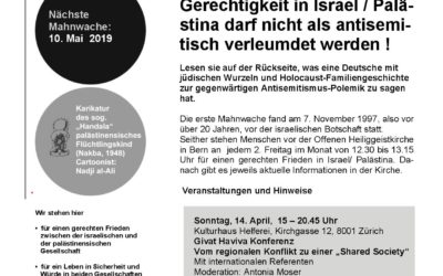 Flyer Mahnwache April 2019
