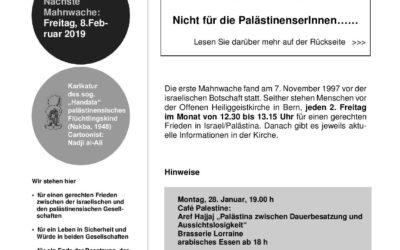 Flyer Mahnwache Januar 2019