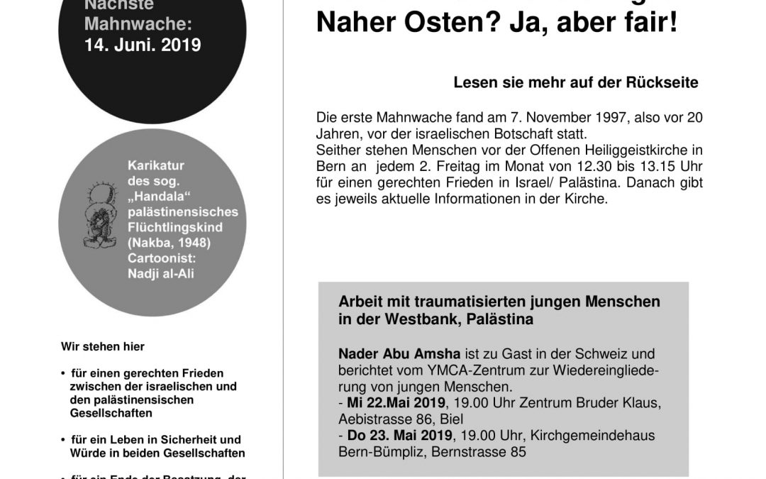 Flyer Mahnwache Mai 2019